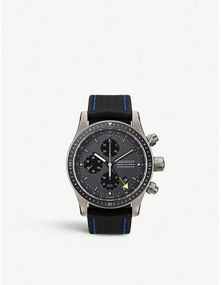 Selfridges BB247-TI-GMT/DG Boeing 100 titanium and nylon chronograph watch