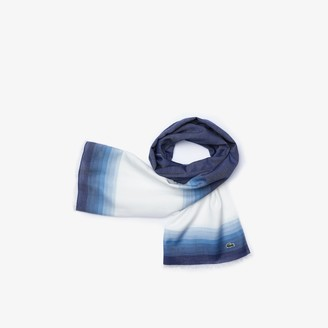 Lacoste Men's Made In France Organic Cotton Ombre Scarf