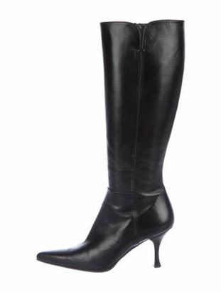 Stuart Weitzman Bonjour Leather Boots Black