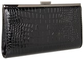 BCBGMAXAZRIA - Ingrid Croc Embossed Oversized Clutch (Black) - Bags and Luggage
