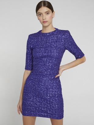 Alice + Olivia Inka Sequin Fitted Mini Dress