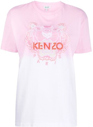 Kenzo Tiger-embroidered gradient T-shirt