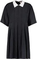 MAISON KITSUNÉ Sara pleated twill mini dress