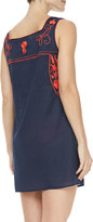 Tory Burch Amira Embroidered Voile Dress