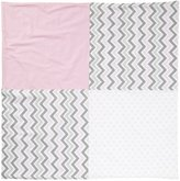 New Arrivals Inc. New Arrivals Peace, Love & Pink Crib Blanket-Pink & Gray