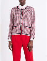 Claudie Pierlot Maxime checked cotton-blend cardigan