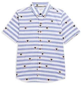Sovereign Code Boy's Leo Lion Stripe Shirt