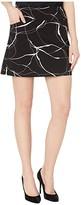Elliott Lauren Brush Strokes Pull-On Two-Pocket Skort with Side Slits (Black/White) Women's Skort