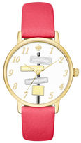 Kate Spade Goldtone Stainless Steel and Leather Strap Watch