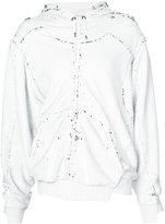A.F.Vandevorst Felicity zipped hoodie - women - Polyester/Spandex/Elastane/Rayon - S
