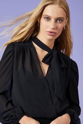 Coast Ponte & Georgette Long Sleeve Midi Dress