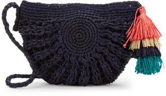 Mar y Sol Tassel Straw Bag