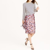 J.Crew Collection pencil skirt in autumn floral