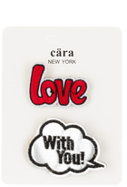 Cara Accessories Love & With You Pin - Set of 2