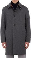 Barneys New York Men's Reversible Cashmere & Tech-Fabric Coat-NAVY