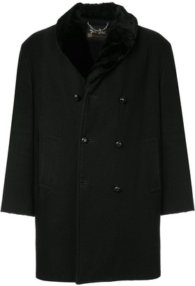 Fake Alpha Vintage Faux Fur Shawl Coat