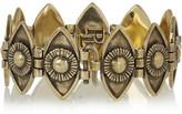 Pamela Love Eye burnished gold-tone onyx bracelet