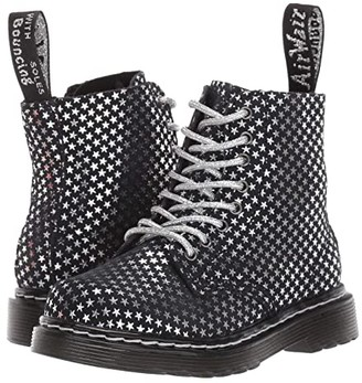 Dr. Martens Kid's Collection 1460 Pascal (Toddler) (Black/Silver Stars) Girl's Shoes