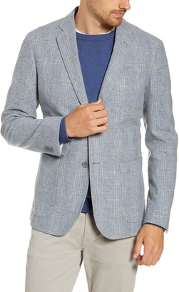 1901 Extra Trim Fit Plaid Wool Blend Sport Coat