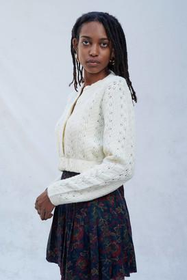 Urban Renewal Vintage Recycled Grandma Cropped Cardigan Sweater