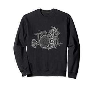 Toms Drummer Drum Kit & Percussion Music Sweatshirt