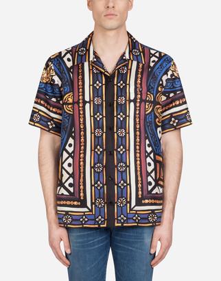 Dolce & Gabbana Silk Hawaii Shirt With Lion Print