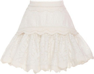 Acler Montana Scalloped Lace Mini Skirt