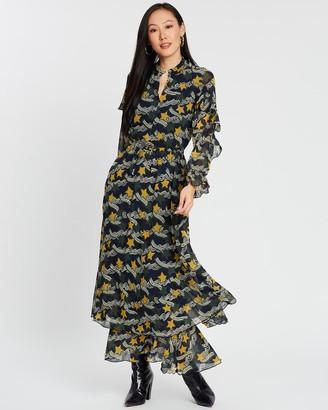 Scotch & Soda Printed Dress With Ruffles