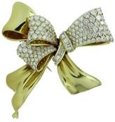 Chaumet Estate 18k Yellow Gold Diamond Bow Brooch Pin