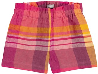 Il Gufo Checked linen shorts