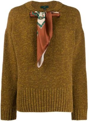 Jejia scarf neck sweater