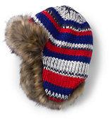 Classic Boys Chunky Knit Trapper Hat-Blush Pink
