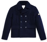 Diesel Boys' Quilted Back Peacoat - Sizes 8-16