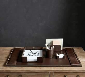 Pottery Barn Klein Leather Desk Blotter & Mouse Pad