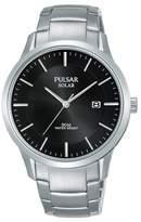 Pulsar - Men's Silver 'Solar' Analogue Bracelet Watch Px3161x1