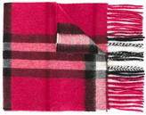 Burberry Check classic scarf - kids - Cashmere - One Size