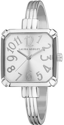 Laura Ashley Women's Watches - Silvertone Square Cuff Watch