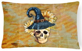 East Urban Home Day of the Dead Witch Skull Lumbar Pillow East Urban Home