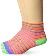 Wrightsock Men's Coolmesh II Stripe Qtr 3 Pack