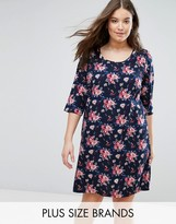 Junarose Floral T-Shirt Dress