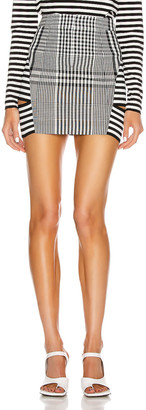 Burberry Gingham Mini Skirt in Black | FWRD