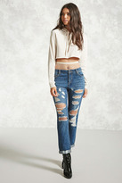 Forever 21 FOREVER 21+ Distressed Mid-Rise Jeans