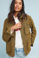 Anthropologie Ruffled Utility Jacket