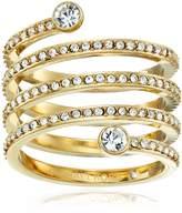 Michael Kors Tone Pave Spiral Ring