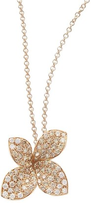 Pasquale Bruni Petite Garden 18K Rose Gold & Pave Diamond Flower Necklace