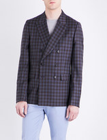 Paul Smith Mens Blue Checked Timeless Jacket