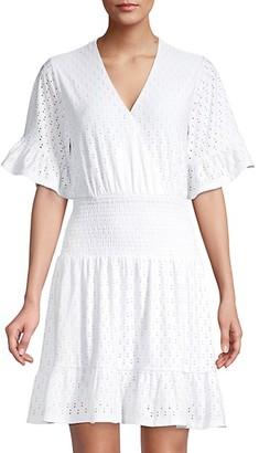 MICHAEL Michael Kors Eyelet Smocked Mini Dress