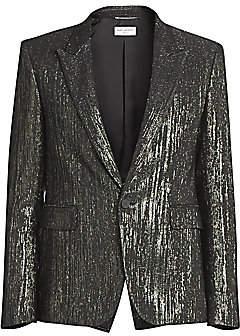 Saint Laurent Men's Metallic Suit Jacket