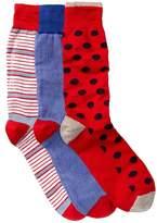 Lorenzo Uomo Assorted Crew Socks - Pack of 3