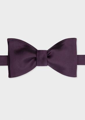 Paul Smith Men's Violet Silk Satin Bow Tie